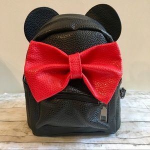Handbags - Minnie Mouse Mini Backpack - White with Red Bow